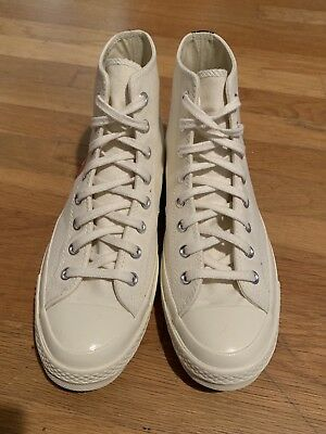 216ced52db8 COMME DES GARCONS Converse WHITE HIGH TOP SIZE 10 CDG -  100.00 ...