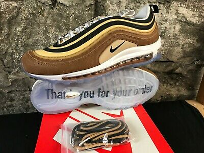 Men's Nike Air Max 97 921826-201 BROWN ALE BLK GOLD RUNNING SHOE 90'S RETRO NEW