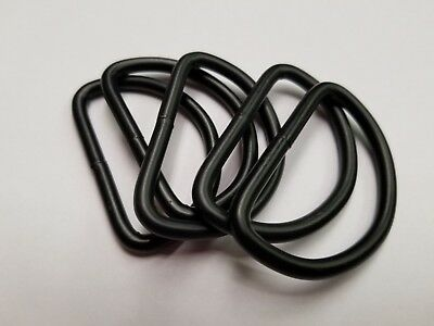 6 pcs- 2'' Heavy Duty Welded D-Rings for webbing strapping- Black D ring