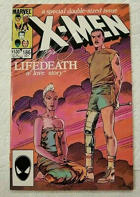 UNCANNY X-MEN #186 VF+ Life Death pt. 1 SIGNED by CHRIS CLAREMONT Marvel 1984