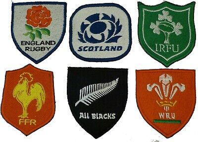 Rugby 6 Nations World Cup Embroidered Sew On Patch Badge New Free P&P
