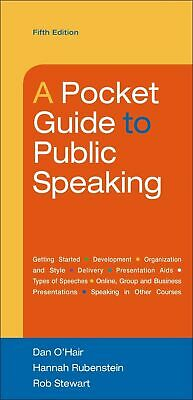 A Pocket Guide to Public Speaking 5th Edition [PDF] fast delivery 30s