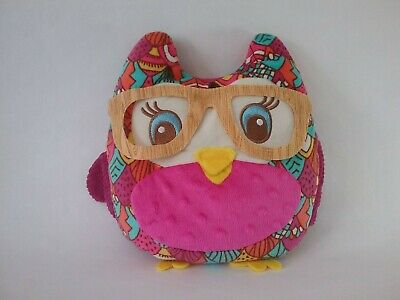 GIRL SCOUT 2017 Cookie Reward OWL PILLOW with Glasses Pocket Plush prize