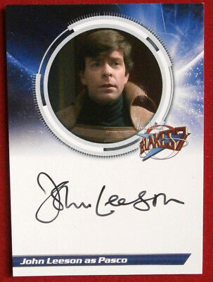 BLAKE'S 7 - JOHN LEESON as Pasco - Autograph Card, Unstoppable Cards 2013