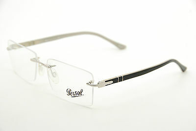 dd28fb123c244 New Authentic Persol 2354-V 906 Black Silver 54mm Frames Italy Eyeglasses RX