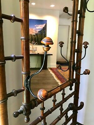 Hall Tree Stunning Victorian Aesthetic Movement Cherry Hall Stand Faux Bamboo
