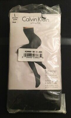 a92a42e614cae Calvin Klein Ultra Fit High Waist Shaper Tights 80 Denier Black Size Large