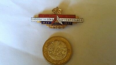 Sons Of Temperance King George V1 And Queen Elizabeth Coronation Brooch