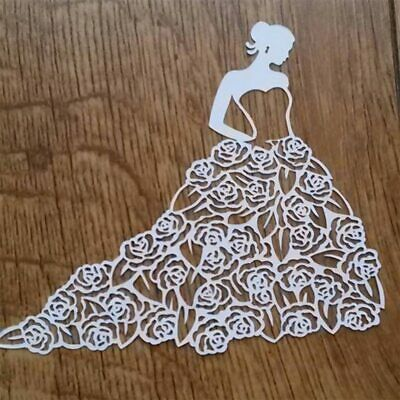 Rose Girl Lady Metal Cutting Dies Stencils For Scrapbooking Paper Cards Craft