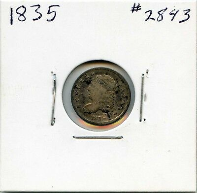 1835 H10C  Capped Bust Silver Half Dime. Circulated. Lot #2638