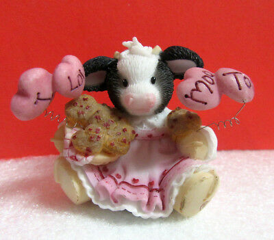 Mary's Moo Moos YOU'RE MY LOVE MUFFIN Valentine Girl Cow with Hearts Figurine