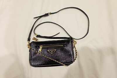 6ba67acab5cd PRADA SAFFIANO MINI crossbody bag leather and chain strape - $559.00 ...