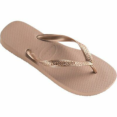 9aff00acc77 Havaianas Top Tiras Womens Footwear Sandals - Rose Gold All Sizes