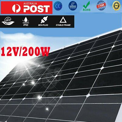 Solor panel Power Outdoor Hiking Camping 12V 200W Solar Charger aw