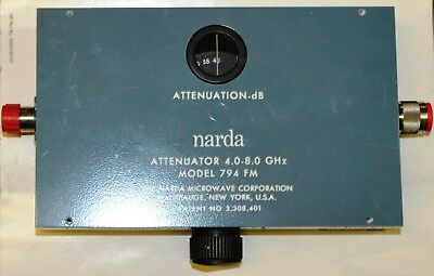 Variable attenuator 0-40 dB 4-8 GHz Narda 794FM  type N connectors