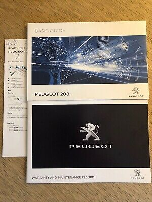 Peugeot 208 Owner Manual Handbook Basic Guide & New Servicebook Genuine 208