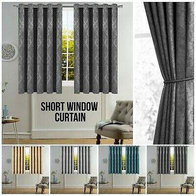 New Pair Of Eyelet Thermal Insulated Blackout Curtains For Short Windows Kitchen