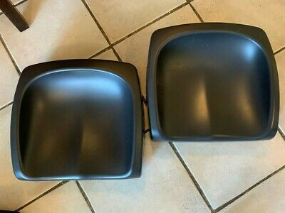 2x Toosh Coosh kids booster seats for table - black - with carry bags