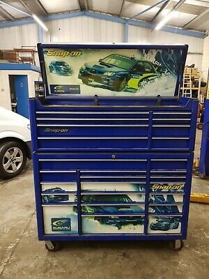 SNAP ON SUBARU Limited Edition 52 Inch Tool Box 99p start no reserve