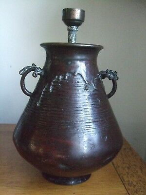 Antique Japanese Bronze Vase - Signed