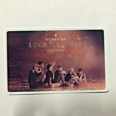 BTS 'Love Yourself in Seoul' Movie CGV Limited Photo Ticket (b)