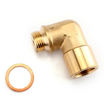 1X 02 Bung Extension M18 X 1.5 O2 Oxygen Sensor Angled Extender Spacer 90 Degree