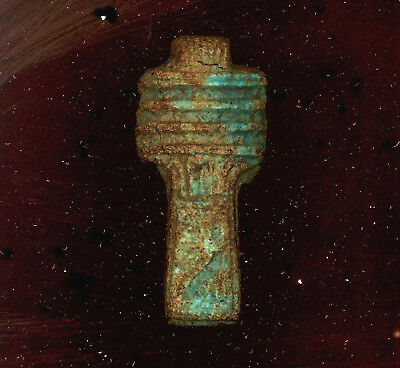 Ancient Egyptian Faience Djed Pillar Amulet Late Period Kingdom 600-300 Bc