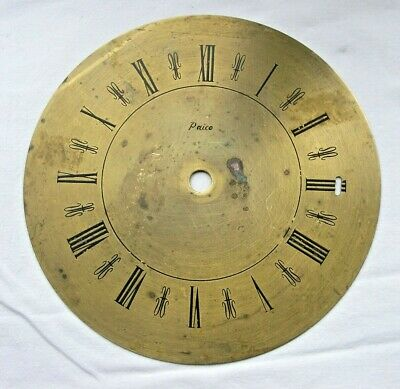 VINTAGE PAICO 170mm BRASS CLOCK FACE / DIAL - ROMAN NUMERALS - NEEDS TLC
