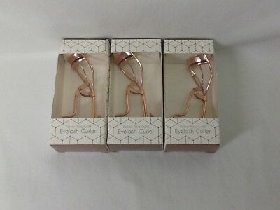 Lot of 3 - Pacific World Corp Deluxe Rose Gold Eyelash Curler