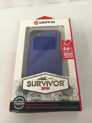 Griffin GB36152-3 Survivor Skin iPod Touch 5th/6th Generation - Blue New