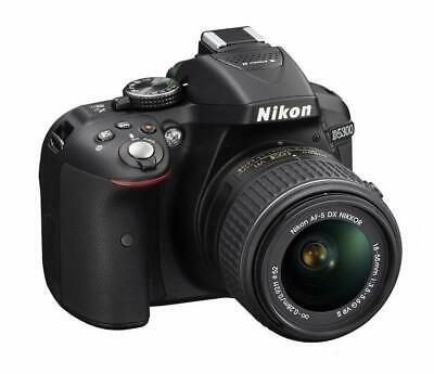 Nikon D5300 Digital SLR Camera 18-55mm F3.5-5.6G VR II Lens kit Black Japan F/S