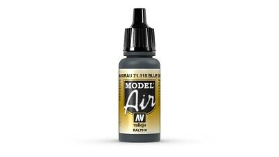 (VAL115) - AV Vallejo Model Air 17ml  - Blue Grey RAL7016