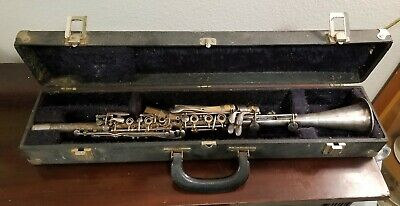 Vintage The Pedler Co Clarinet Silver Plated Elkhart Indiana  w/case USA Music