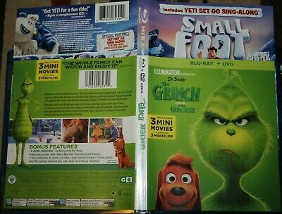 Small Foot + The Grinch (BLU RAY/2018) 2-in-1 Region A Canada/USA**See details**
