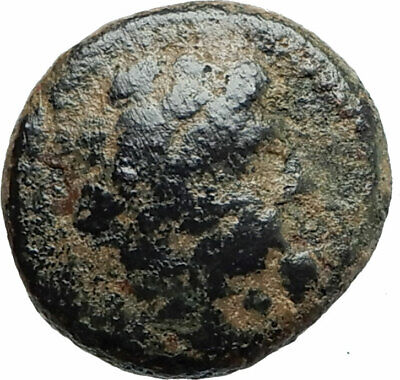 ARADOS in PHOENICIA Authentic Ancient 206BC Greek Coin w ZEUS & GALLEY i75654