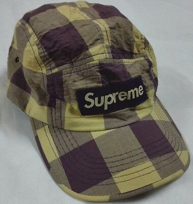 ae6d1163 SUPREME BOX LOGO SNAP BACK 5 PANEL HAT USA CAMP TRUCKER CAP Striped Hip Hop  Camo