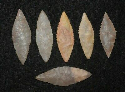 6 mice Sahara Neolithic ovates, bi-pointed