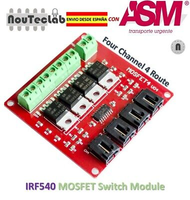 Four Channel 4 Route MOSFET Button IRF540 V4.0 + MOSFET Switch Module