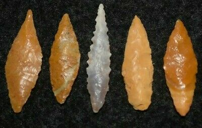 5 Sahara Neolithic ovates, some color and quality lithics, little gems