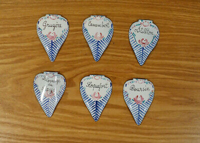 Antique 19th Century French Enamel Cheese Markers