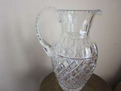 "Diamond Pattern Crystal Pitcher 10"" 64  OZ"