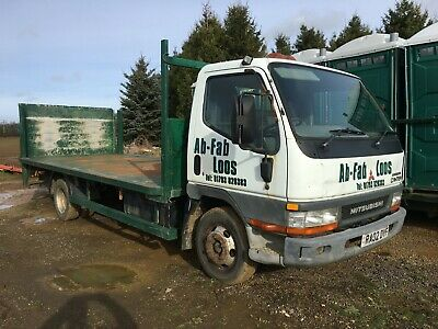 Mitsubishi Canter 63. 6.3 Tonne Flat Bed With Tail Lift