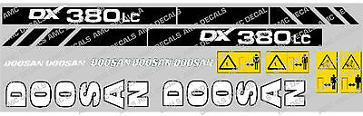 Doosan DX380LC Digger Decal Set