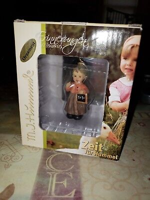 "Goebel MJ Hummel Littlest Teacher 2.5"" Christmas Ornament #935507 NEW IN BOX"