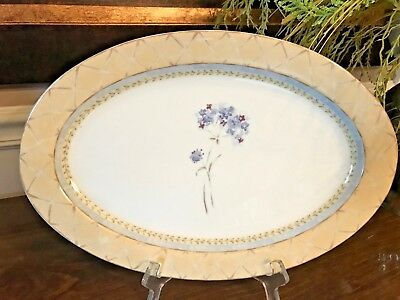 "HERITAGE MINT ""Enchanted Garden""  ~~ 14"" Platter-EXCELLENT"