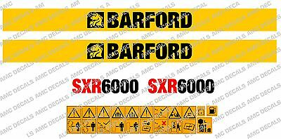 Barford SXR6000 Stickers de Dumper