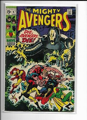 AVERNGERS 67 Marvel Comic ULTRON  Cover THOR IRON MAN Key Issue