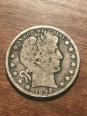 1892-S Barber Silver Half Dollar Key Date! Very Rare! Nice Detail Free Shipping*