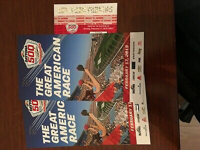 Daytona 500 Lot 4 Parking Pass and 2 pit row exit seats (together) below cost