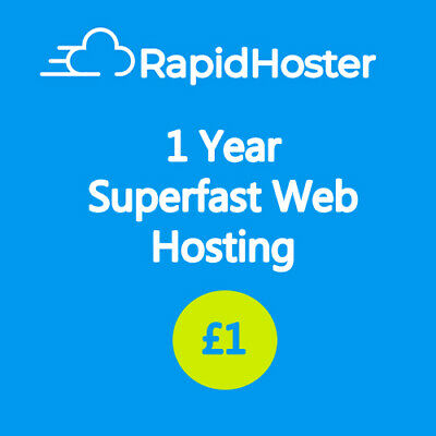 1 Year Unlimited SSD Web Hosting | Registered UK Company | Free Data Migration!